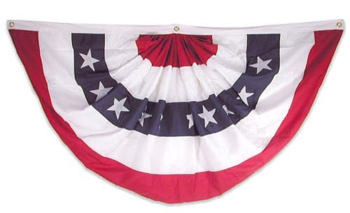 3x6 ft. Pleated Fan Bunting