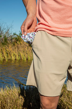 Performance Shorts - Natural Khaki - Lure Pattern