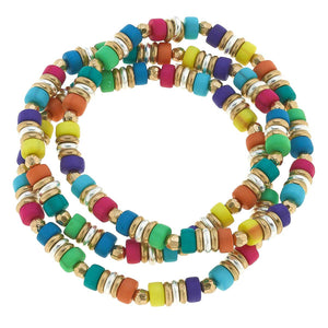 Penelope Beaded Stretch Bracelet In Multi