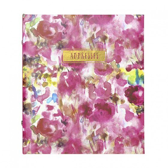 Refillable Address Book - Painterly Floral