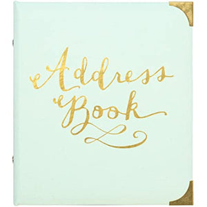 Refillable Address Book - Gilded Mint