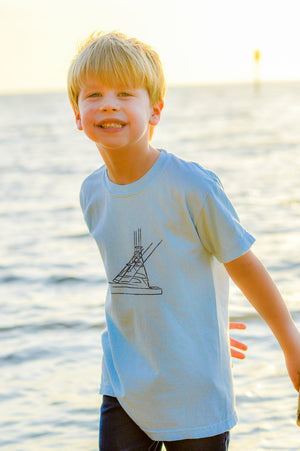 Kids Fishing Boat Tee