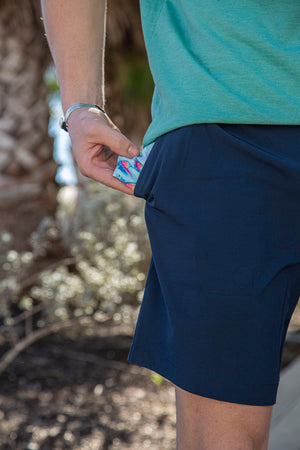 Performance Shorts - Deep Water Navy - Fish Fin