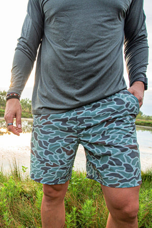 Performance Shorts - Classic Mallard Camo - Grey Pocket