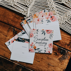 FLORAL SCRIPTURE MEMORY CARDS