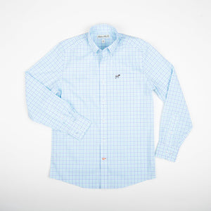 Southern Point Co. Youth Hadley Summerweight - Aqua Check