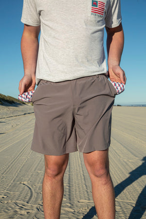Performance Shorts - Steel Grey - USA Pocket