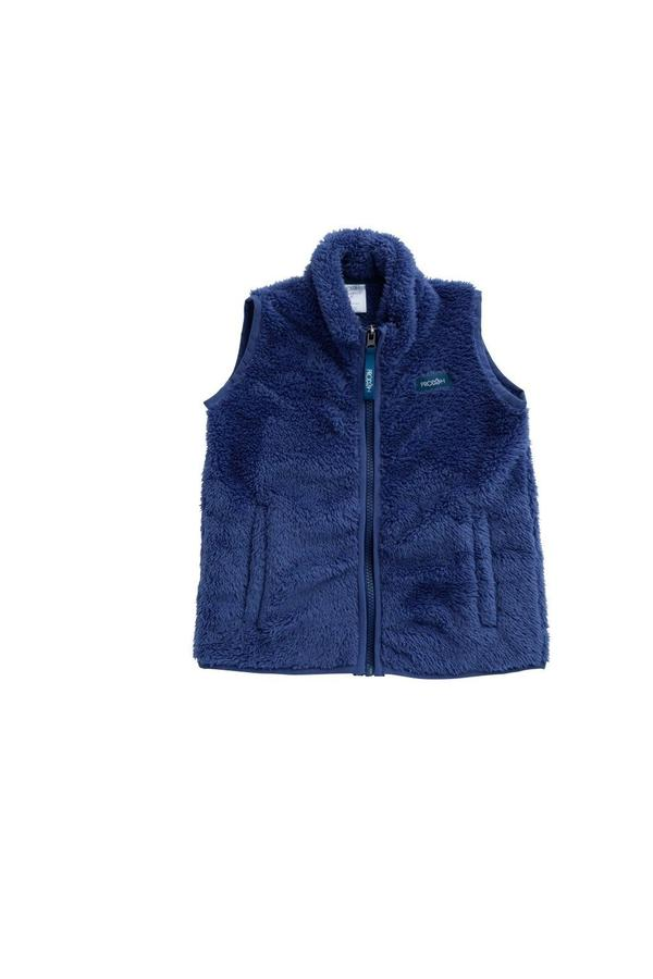 Boy's Sherpa Vest in Blue