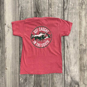 Youth Catfish Tee -Crimson