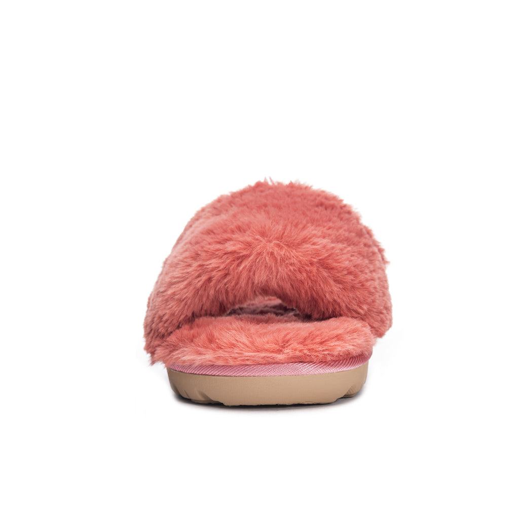Rally Faux Fur Slide