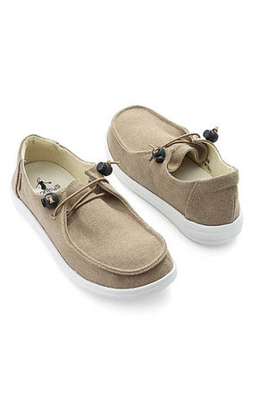 Kayak Canvas Slip On Sneaker - Khaki