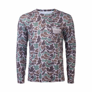 Dry-fit Pocketed Long Sleeve Camo Tee