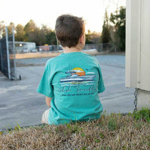 Youth Flare Tee -Seafoam