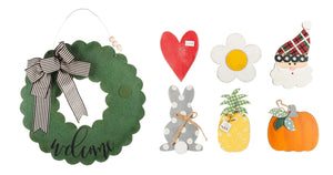 Welcome Wreath Burlee with Seasons