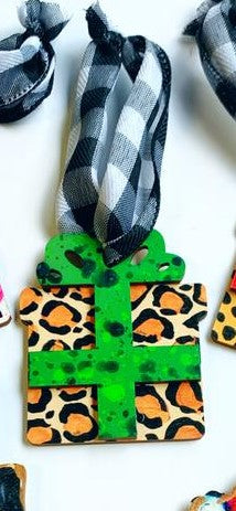 Leopard and Green Gift Ornament