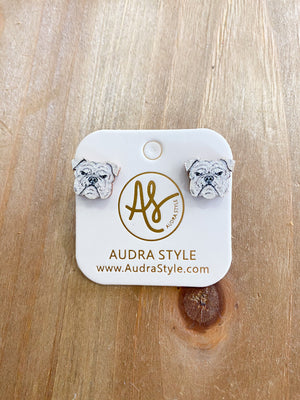 Audra Style Bulldog Stud Earrings