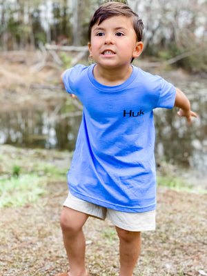 Huk Youth Freshwater Shield Tee -Dusk Blue Heather