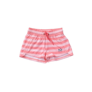 Prodoh GIRL'S BEACH CRUISER SHORTS -FLAMINGO STRIPE