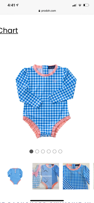 Prodoh Infant Rashguard Swimsuit in Gingham