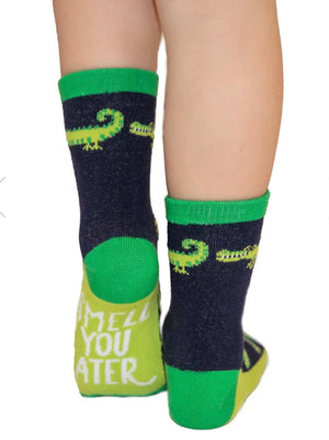 Smell You Later Alligator Kid Sock