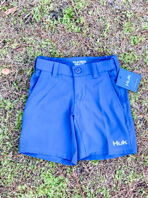 HUK Youth Rogue Shorts -Saragasso Sea