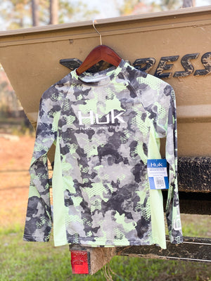Huk Youth Mossy Oak Pursuit Long Sleeve Shirt- New Superior