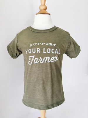 Support Your Local Farmer Toddler Tee