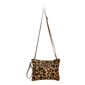 Small Leopard Hairon Crossbody Bag