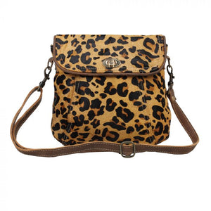 Leopard Hairon Crossbody Bag