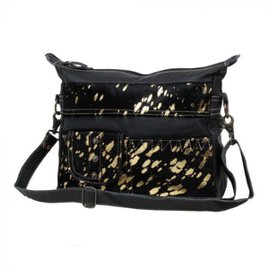 Black and Gold Speckled Bag
