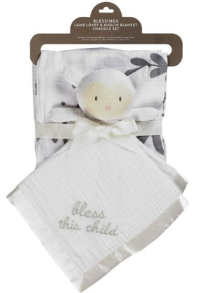 Christening Swaddle Gift Set - Blessings