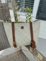 Oak River Handwoven Seagrass Backpack