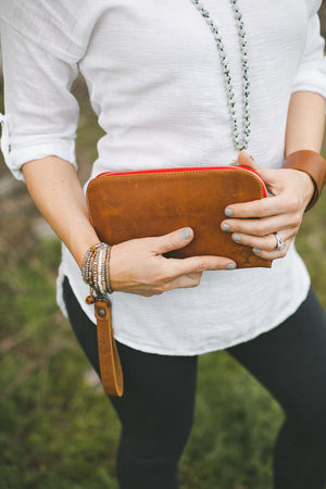 Leather Smart Phone Wristlet