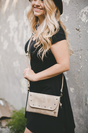 Leather Grace Crossbody