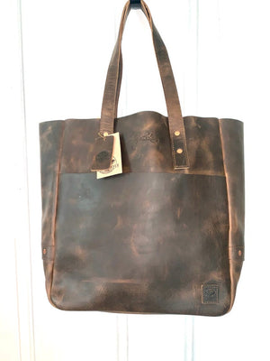 Fine Day Tote- Chocolate Brown