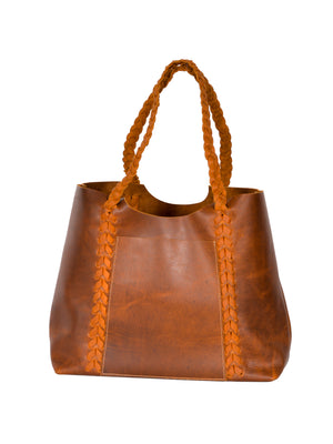 Leather Baseball Stitch Tote
