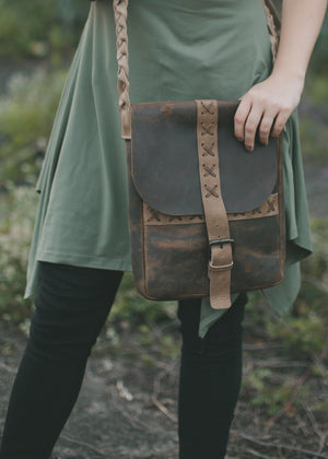Leather Conceal & Carry Satchel