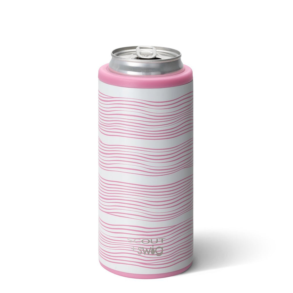 SCOUT + Swig Skinny Can Cooler (12 oz) - Wavy Love