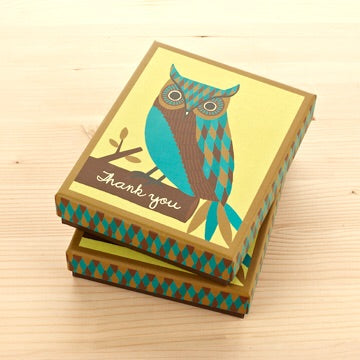 THANK YOU - Owl boxed cards