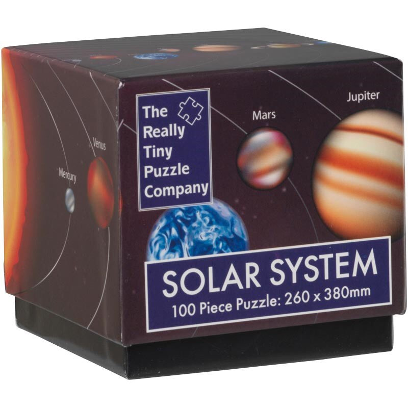 SOLAR SYSTEM - The Really Tiny Puzzle Company 100 piece puzzle cube