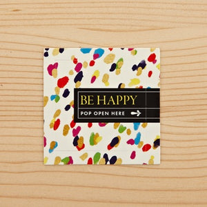 BE HAPPY - Thoughtfulls window cards