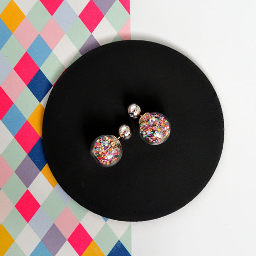 CONFETTI BUBBLE EARRINGS - Multicoloured confetti bubble earrings