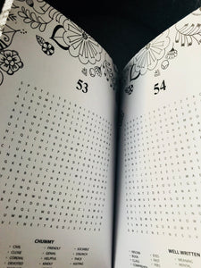 FLORAL GREY WORD SEARCH - Puzzle book