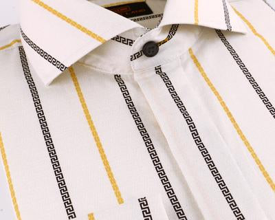Steven Land Greek Key Dress Shirt - On Time Fashions Tuscaloosa