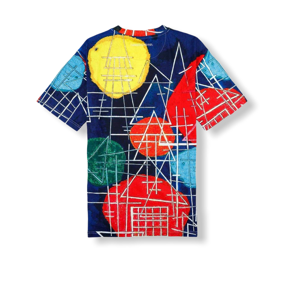 TANGO HOTEL: Kandinsky Abstraction All Over Tee THB1418TE - On Time Fashions Tuscaloosa