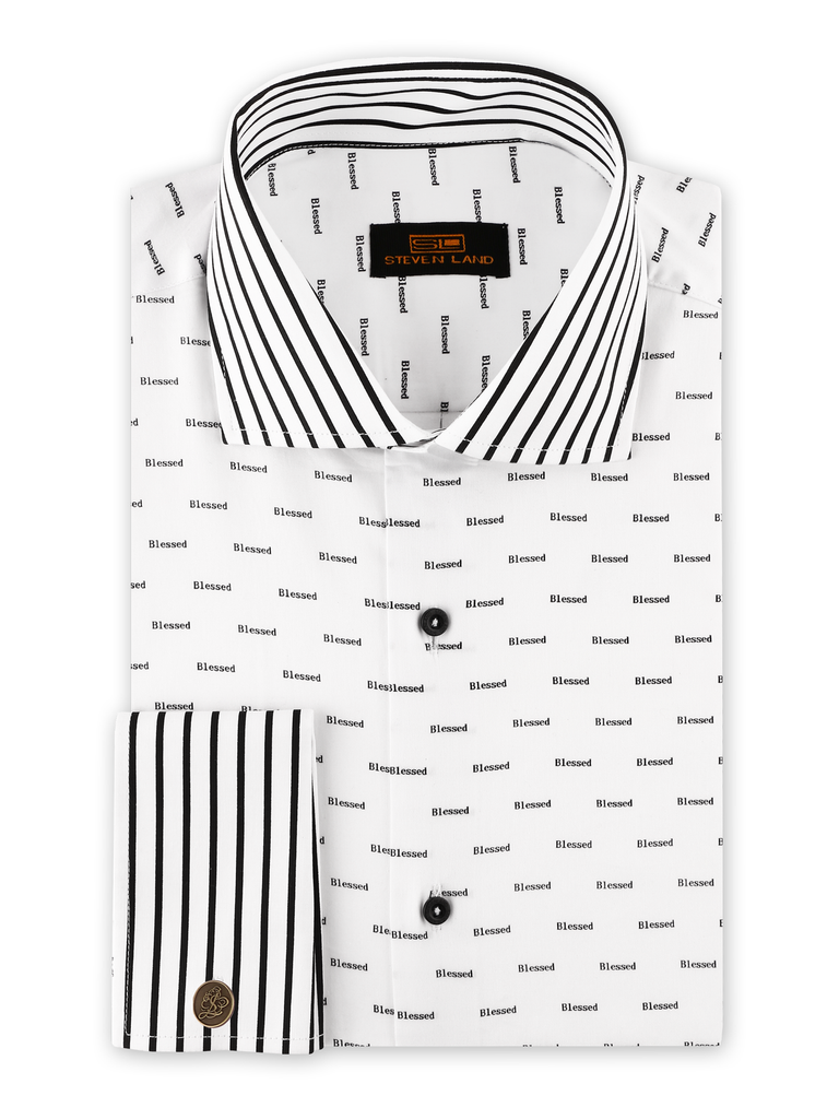 Steven Land Blessed Stretch Dress Shirt - On Time Fashions Tuscaloosa