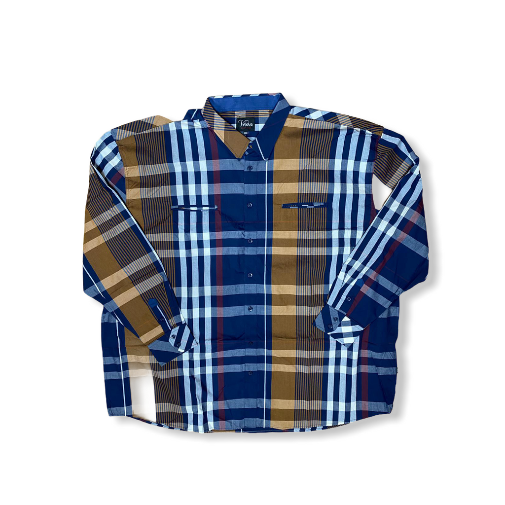 VENO: L/S Plaid Button Down V1898 - On Time Fashions Tuscaloosa