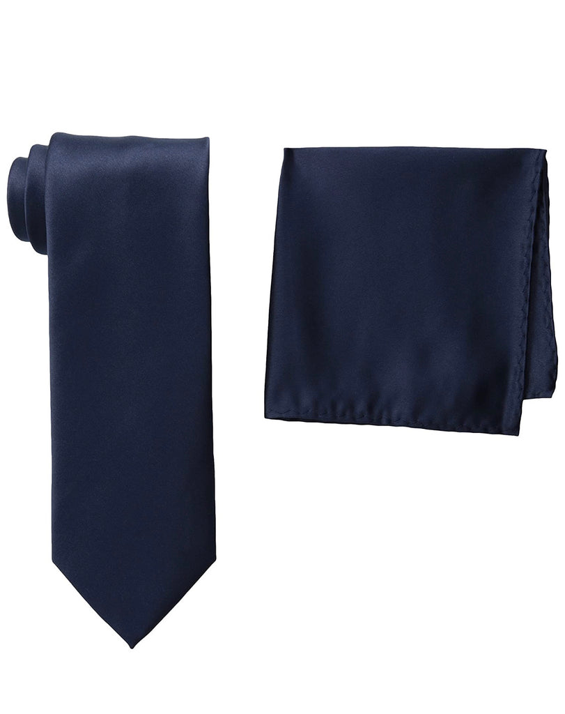Stacy Adams Solid Navy Tie and Hanky - On Time Fashions Tuscaloosa