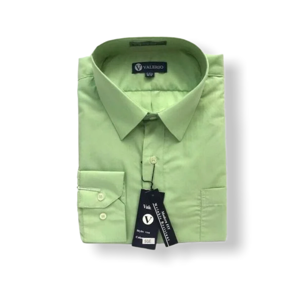 Valerio Sage Dress Shirt - On Time Fashions Tuscaloosa