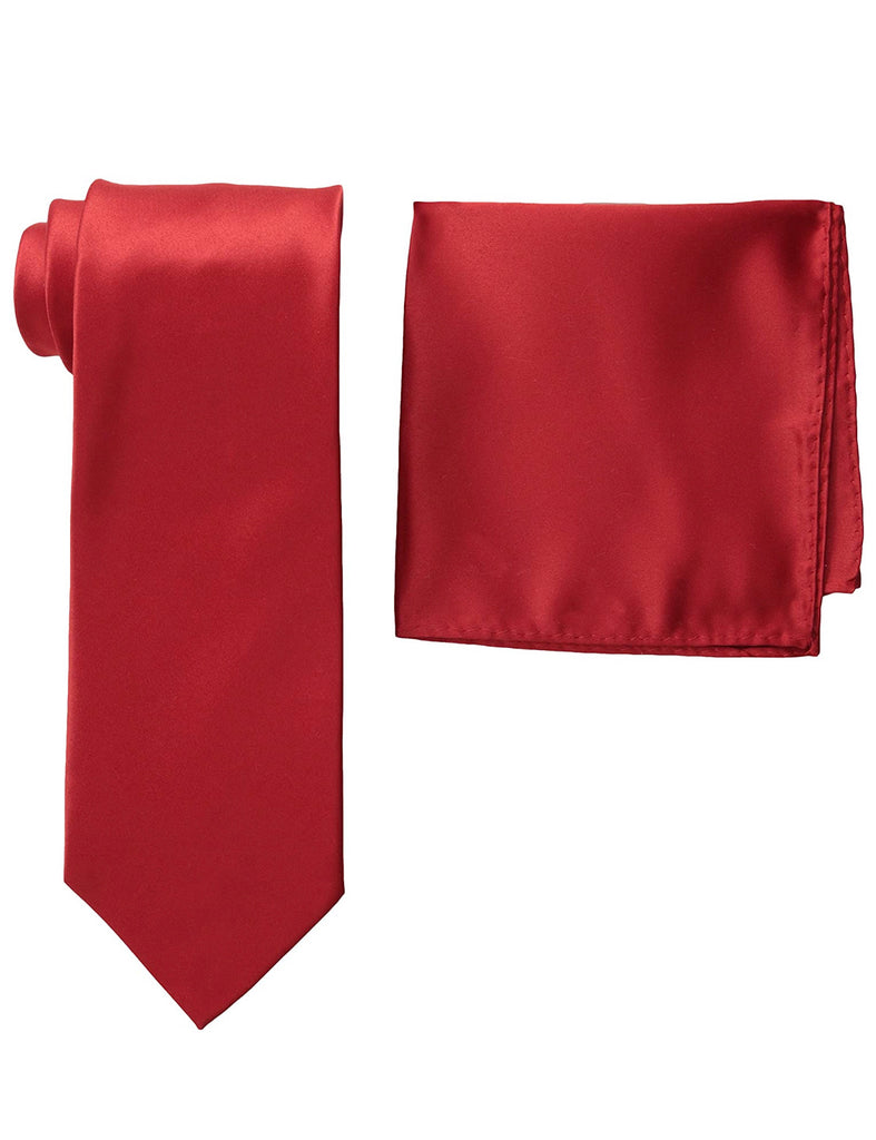 Stacy Adams Solid Crimson Tie and Hanky - On Time Fashions Tuscaloosa